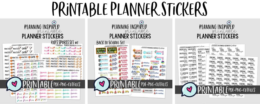 printable planner sticker shop