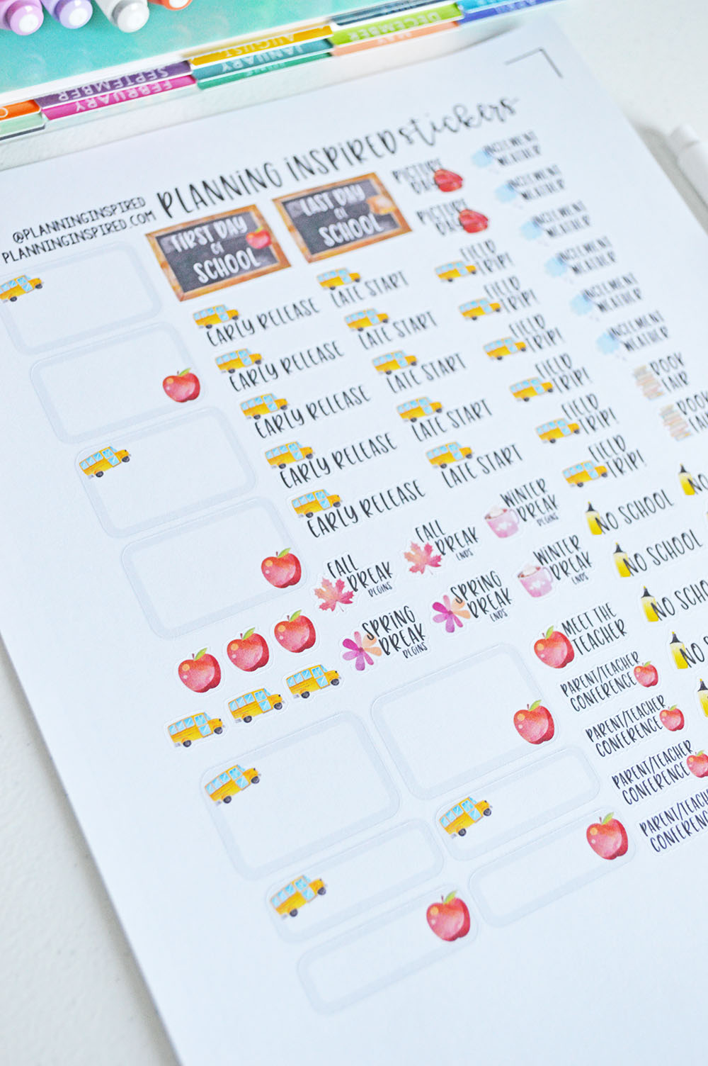 Free Printable School Planner Stickers