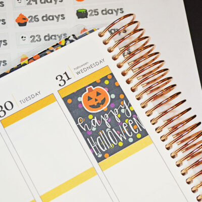 Halloween Countdown Stickers for your Planner