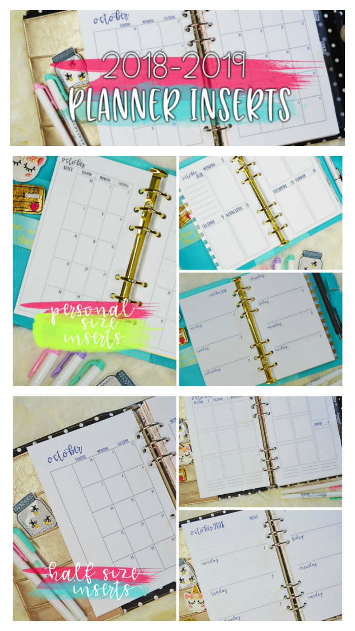 2019 Planner Inserts New Releases Planning Inspired