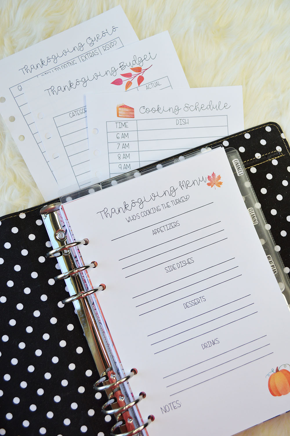 graphic relating to Thanksgiving Planner Printable titled Printable Thanksgiving Planner Inserts Person 50 %