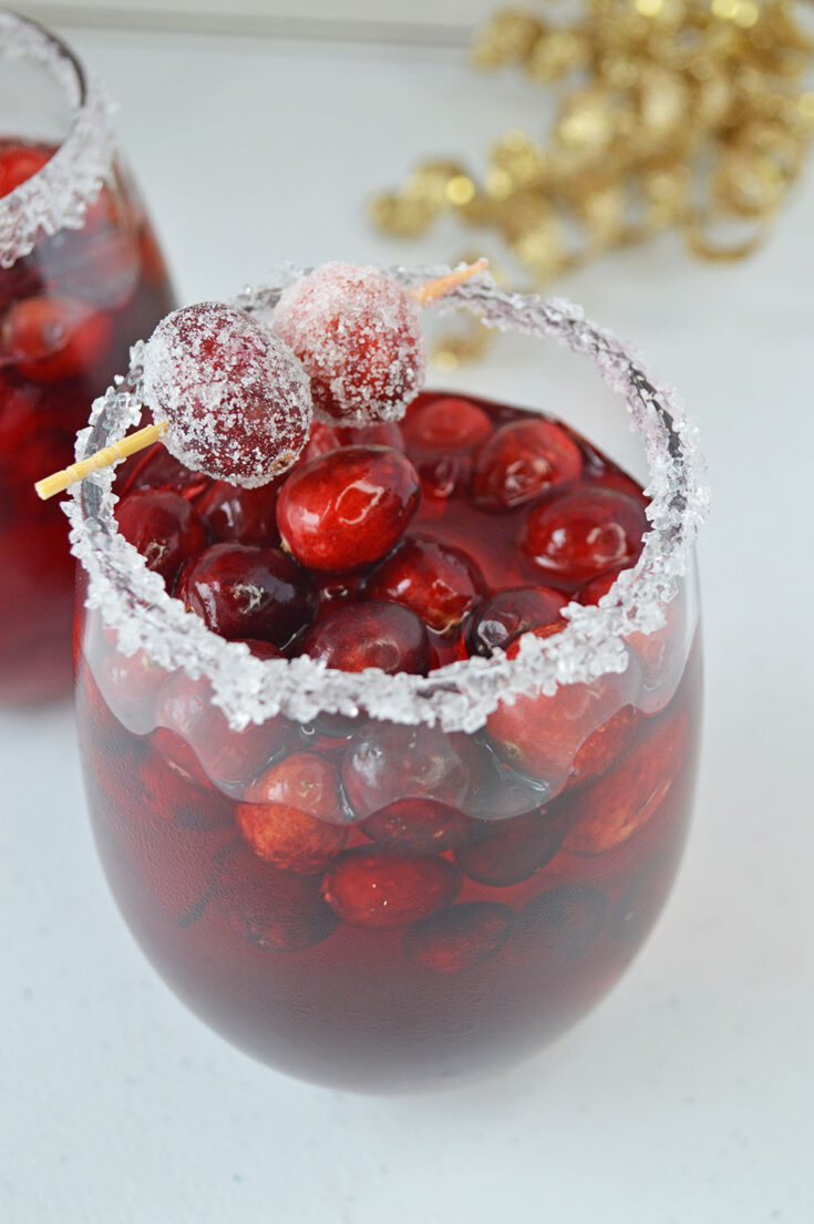 Frosted Cranberry Vodka Cocktail