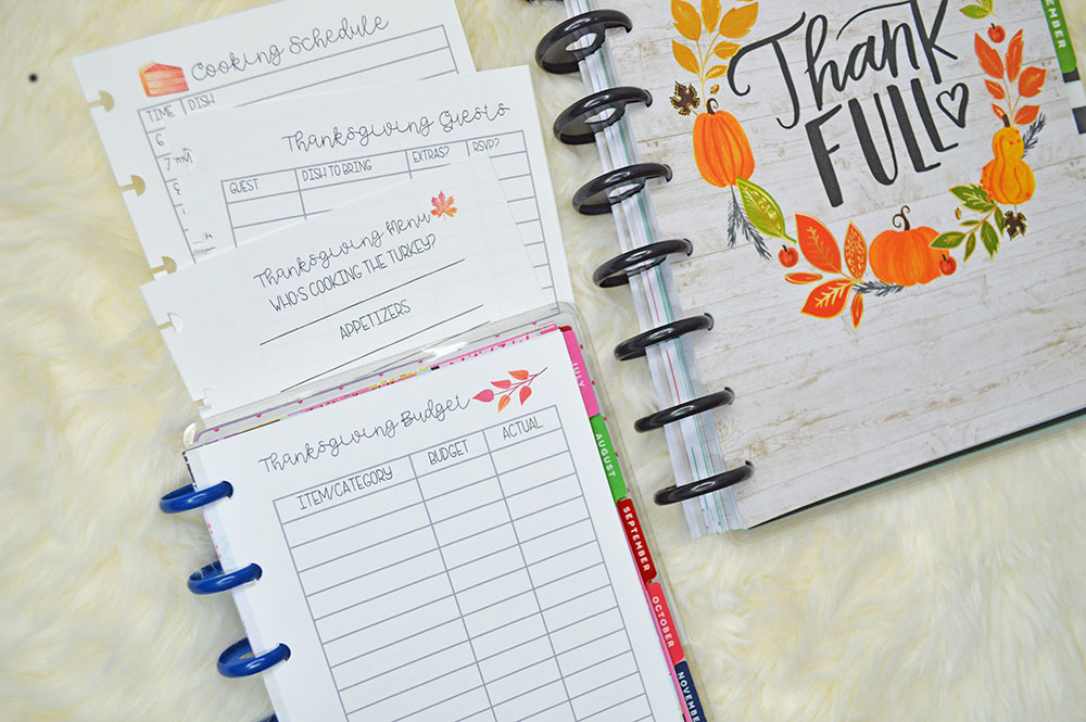 Thanksgiving Happy Planner Printables