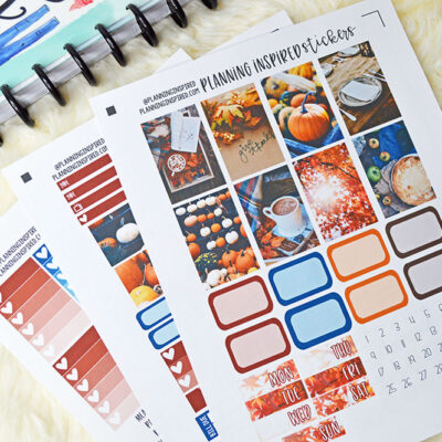 Free Thanksgiving Planner Stickers | New Photo Kit for Subscribers