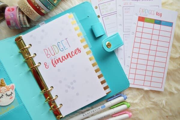 Budget Planner Inserts