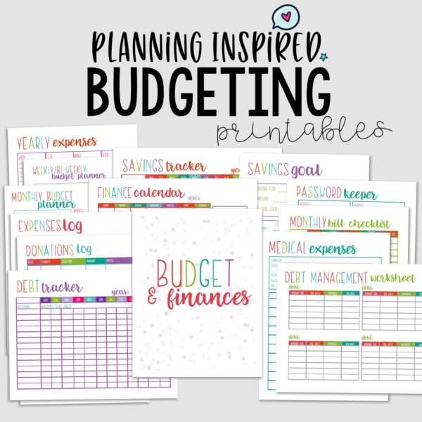 picture relating to Printable Budget Template identified as Printable Spending plan Worksheet Sets - Creating Influenced