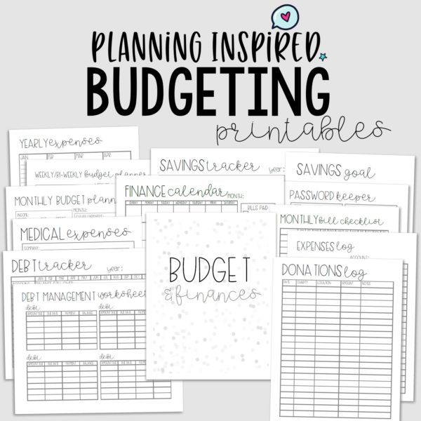 graphic relating to Budget Tracker Printable titled Printable Spending budget Worksheet Sets - Coming up with Encouraged