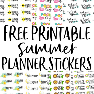 Free Printable Planner Stickers for Summer
