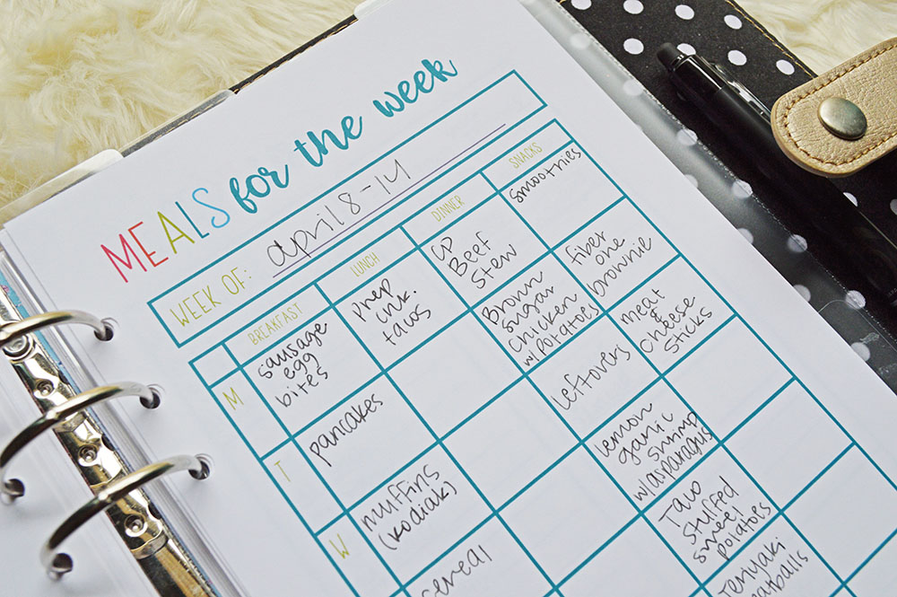 How to Meal Plan for the Week in 5 Minutes | April 2019 Weekly Meal Plan