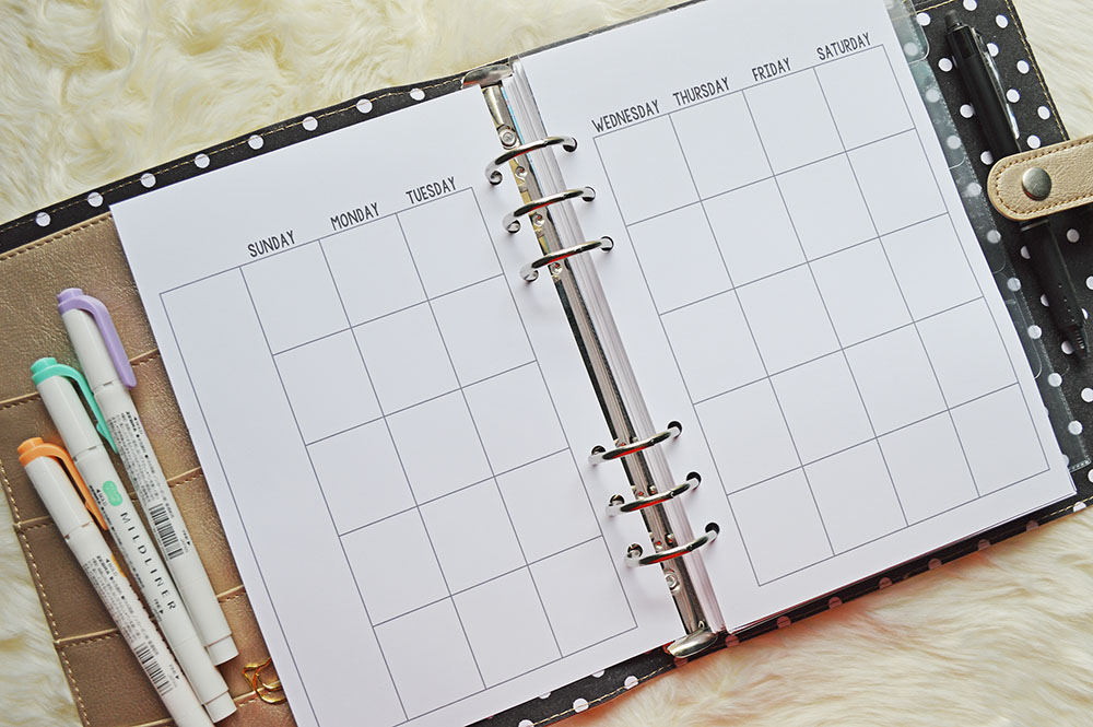 image regarding A5 Planner Printable referred to as Free of charge Printable 50 percent Dimensions Every month Calendar For Your A5