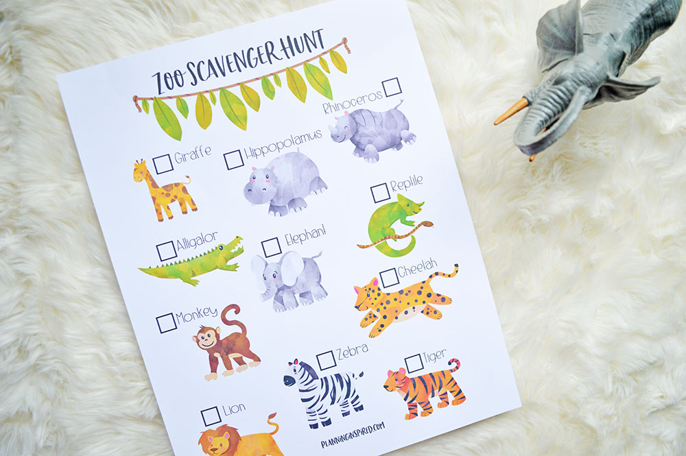 image about Zoo Scavenger Hunt Printable titled Zoo Scavenger Hunt Printable - Designing Impressed