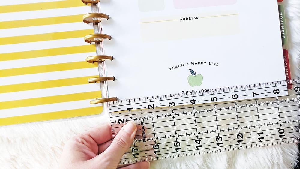 Measuring Happy Planner classic