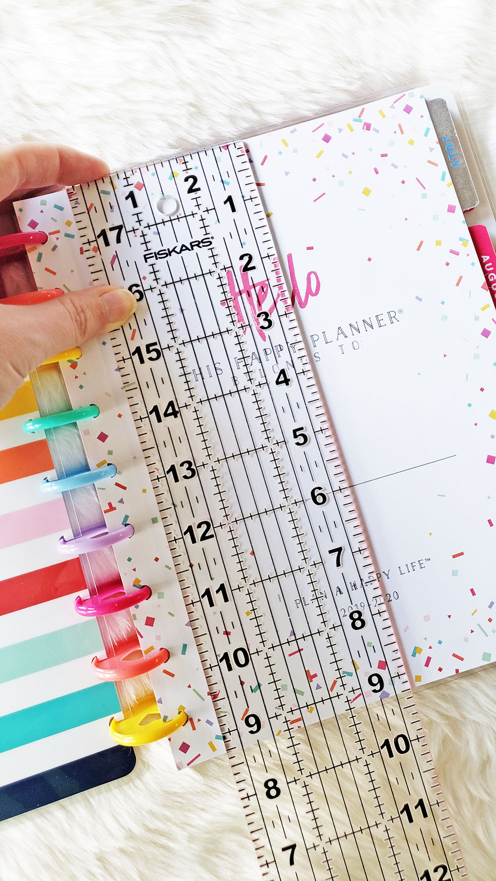 Happy Planner page size measurement