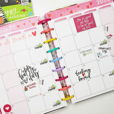 February Monthly Happy Planner Plan With Me