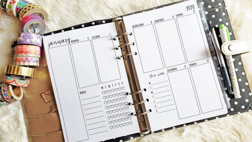 A5 Planner Inserts and Refills for 2020