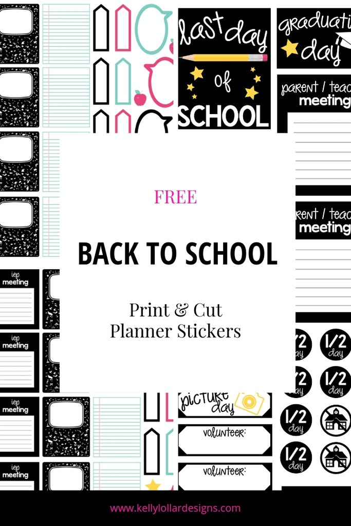Kelly Lollar Designs back to school stickers