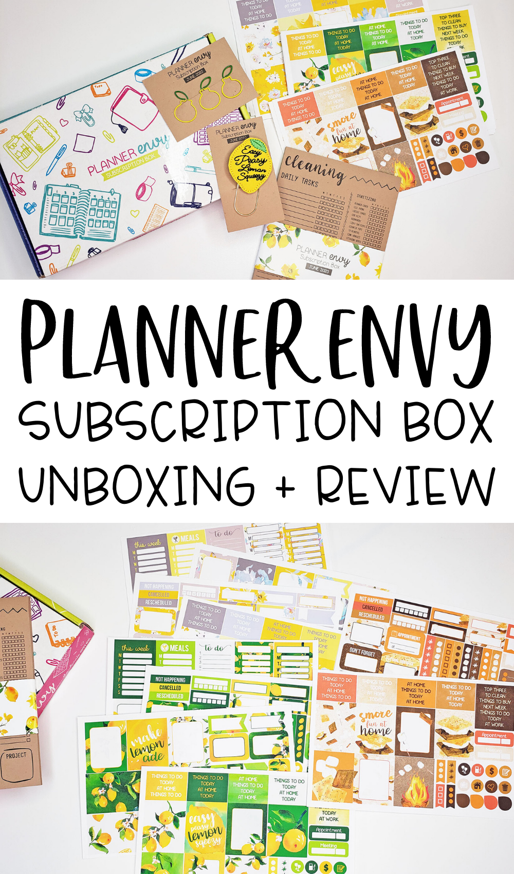 Planner Subscription Box Review | Planner Envy Subscription