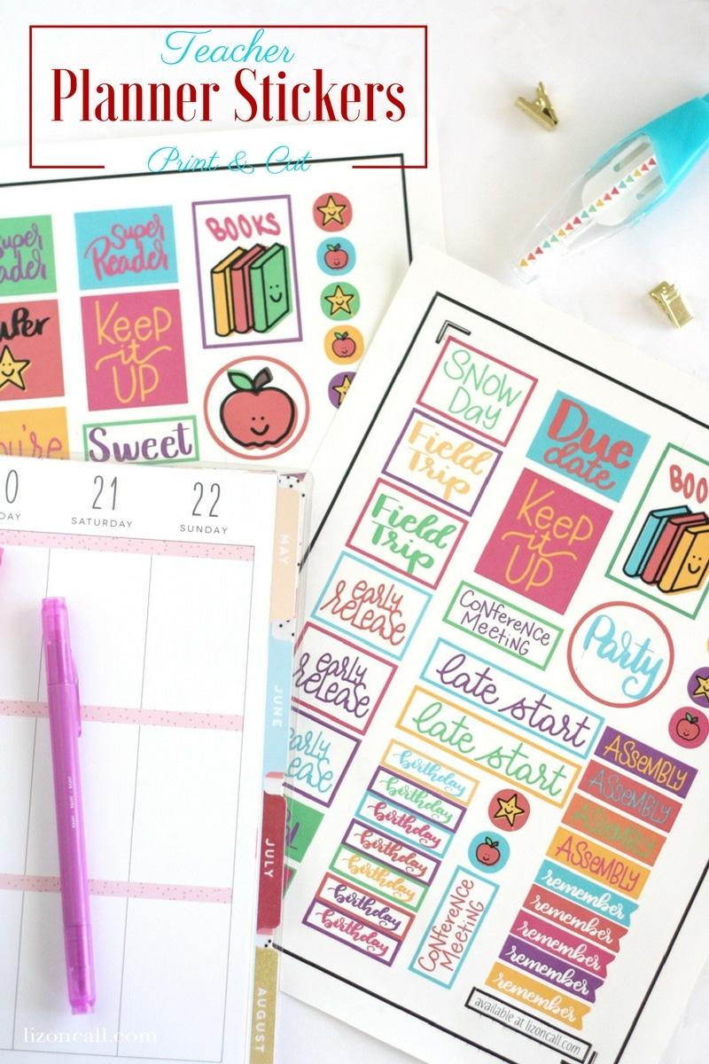 cute school reminder stickers