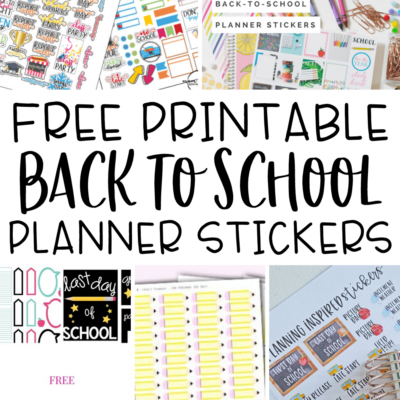 10 Free Printable Back to School Planner Stickers