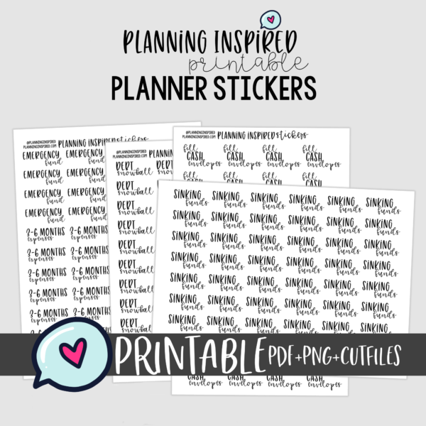 printable budget stickers