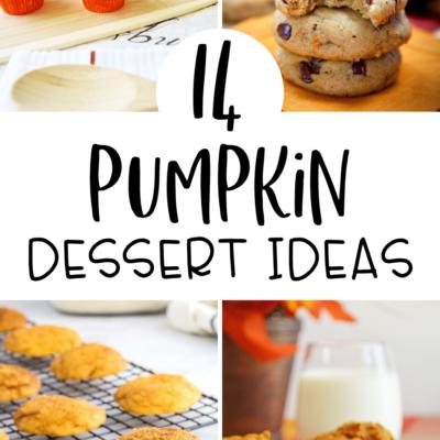 14 Pumpkin Dessert Ideas