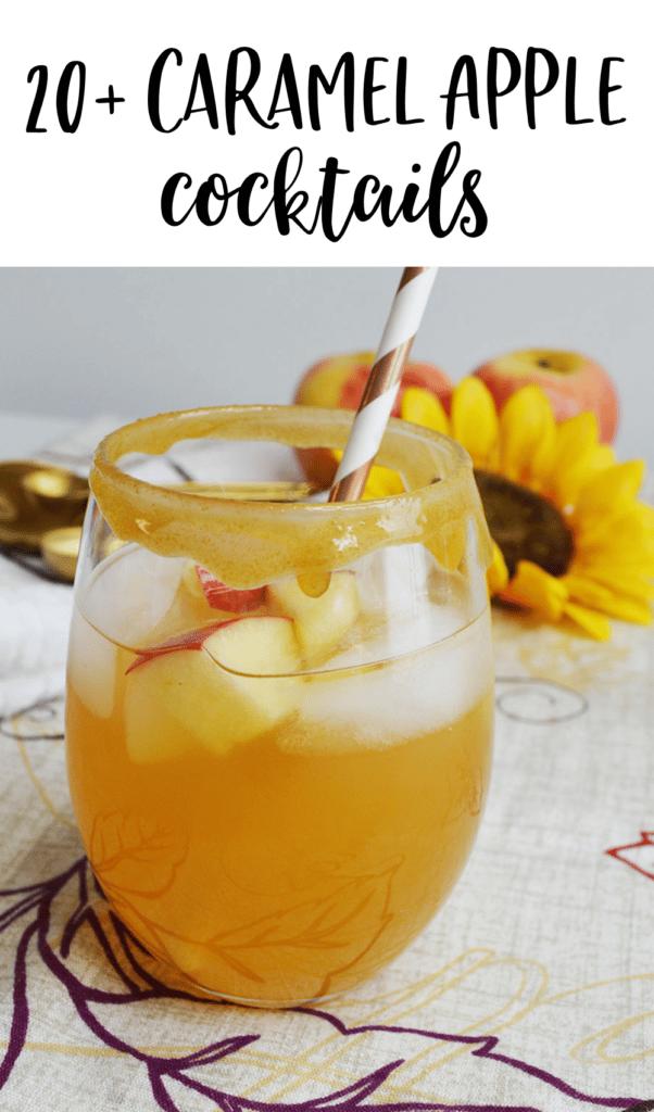 Caramel Apple Cocktails