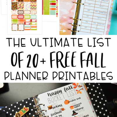 Free Fall Planner Printables