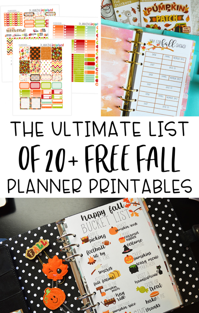 free Fall planner printables