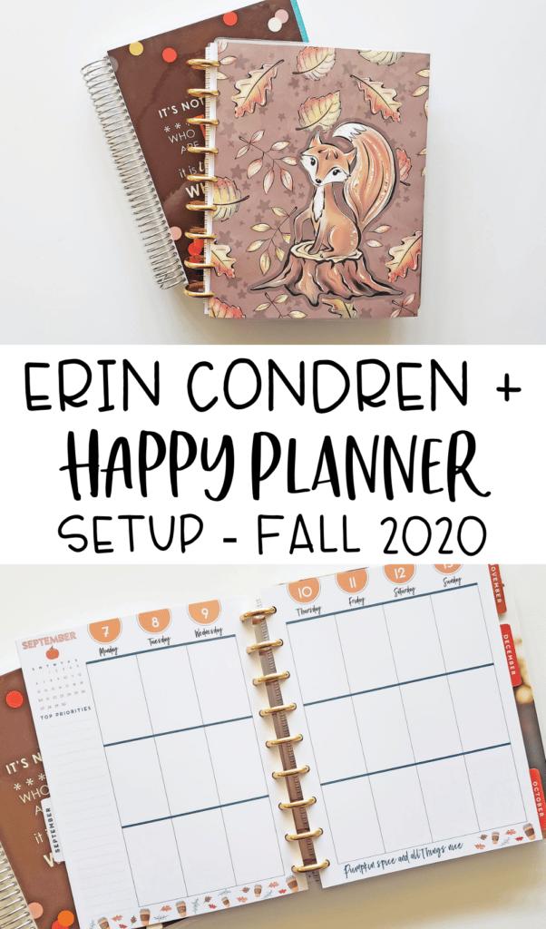 Fall Erin Condren & Happy Planner Setup 2020