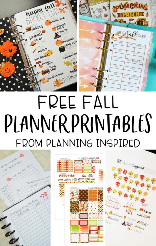 Fall Planner Printables