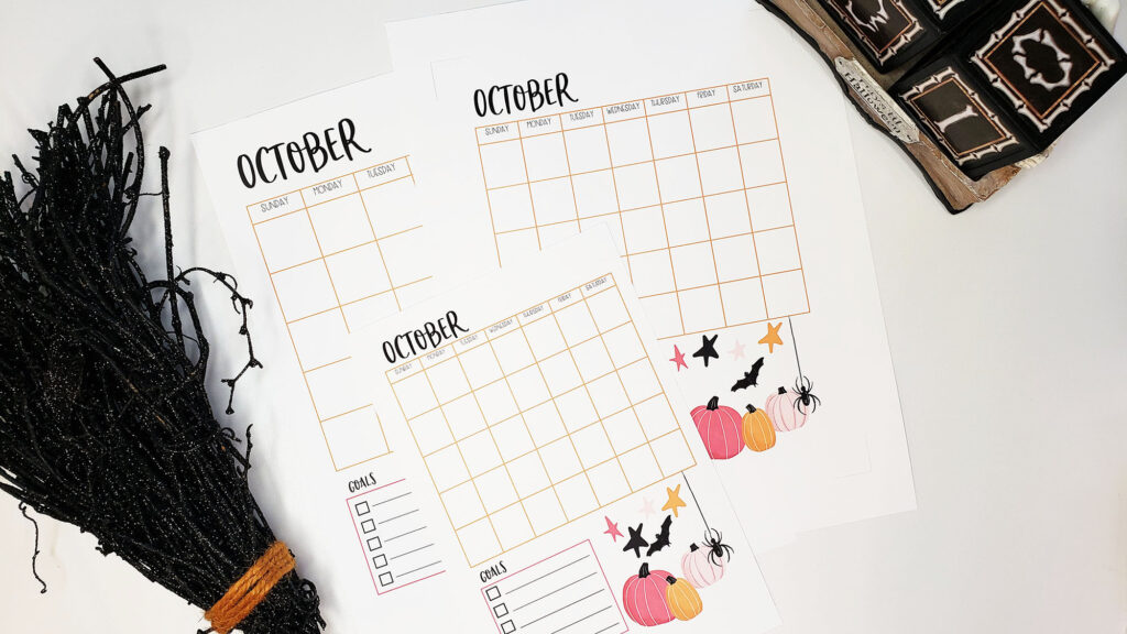 halloween planner printables in 3 sizes