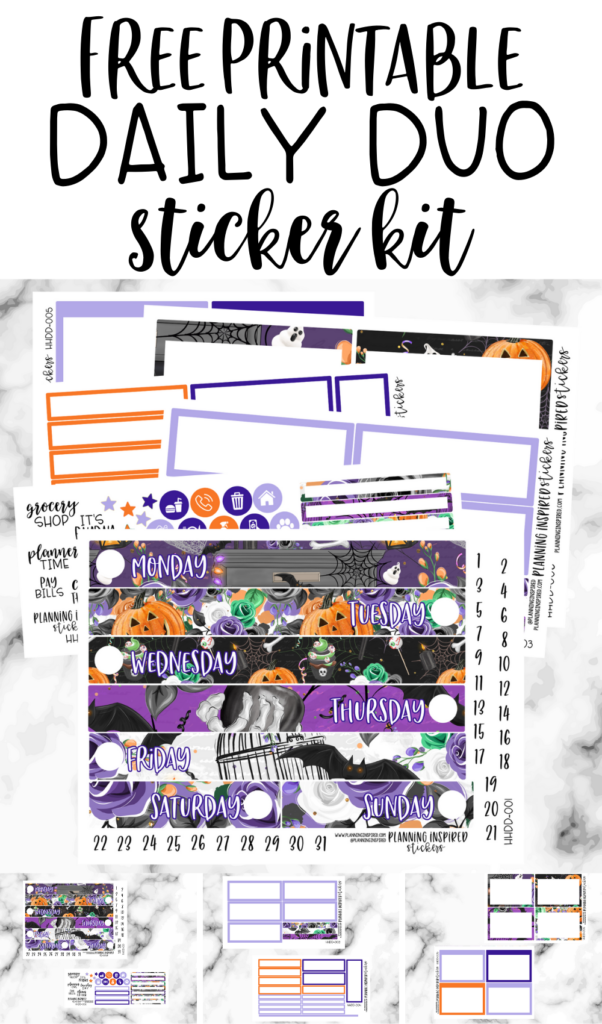 free printable daily duo stickers