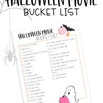 Free Printable Halloween Movie Bucket List