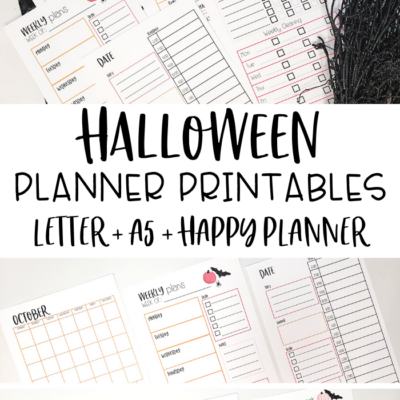 Free Planner Printables for Halloween