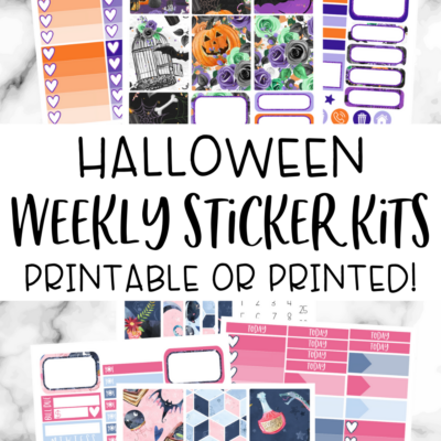 Halloween Weekly Planner Sticker Kits
