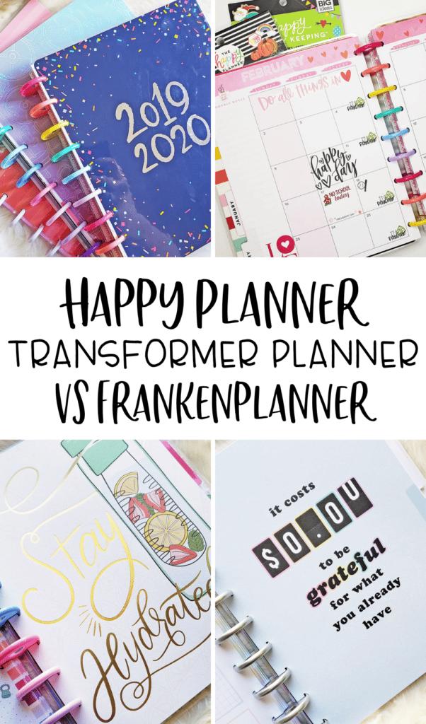 Transformer Planner VS Frankenplanner Happy Planner