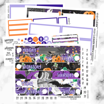 Free Printable Daily Duo Stickers for Halloween