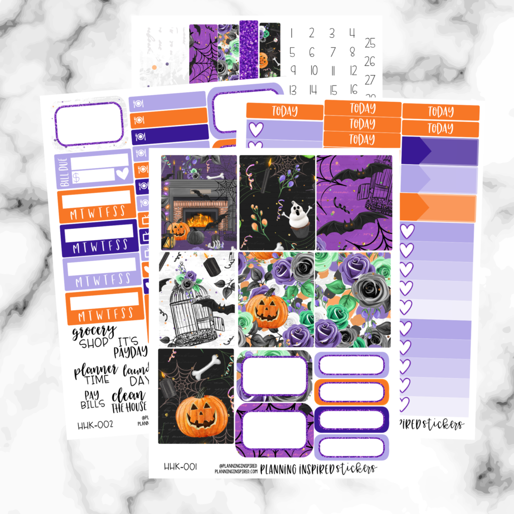 Haunted House weekly sticker kit