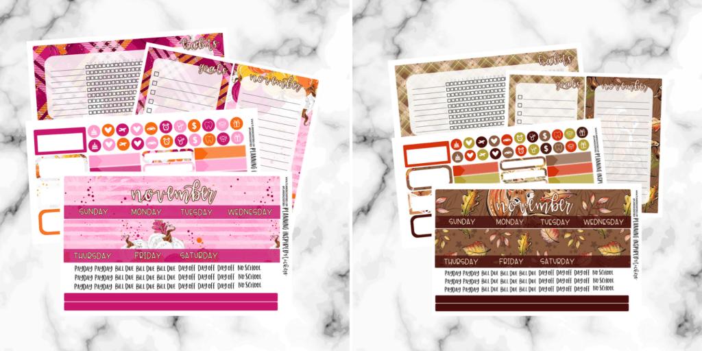 November sticker kits