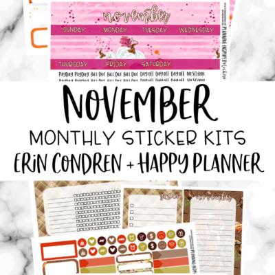 November Monthly Planner Sticker Kits