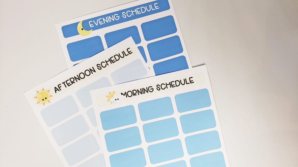 printable schedule for kids