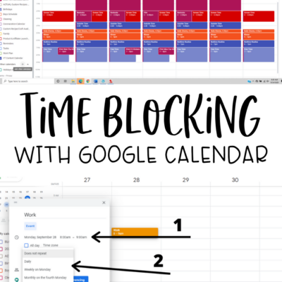 Time Blocking with Google Calendar