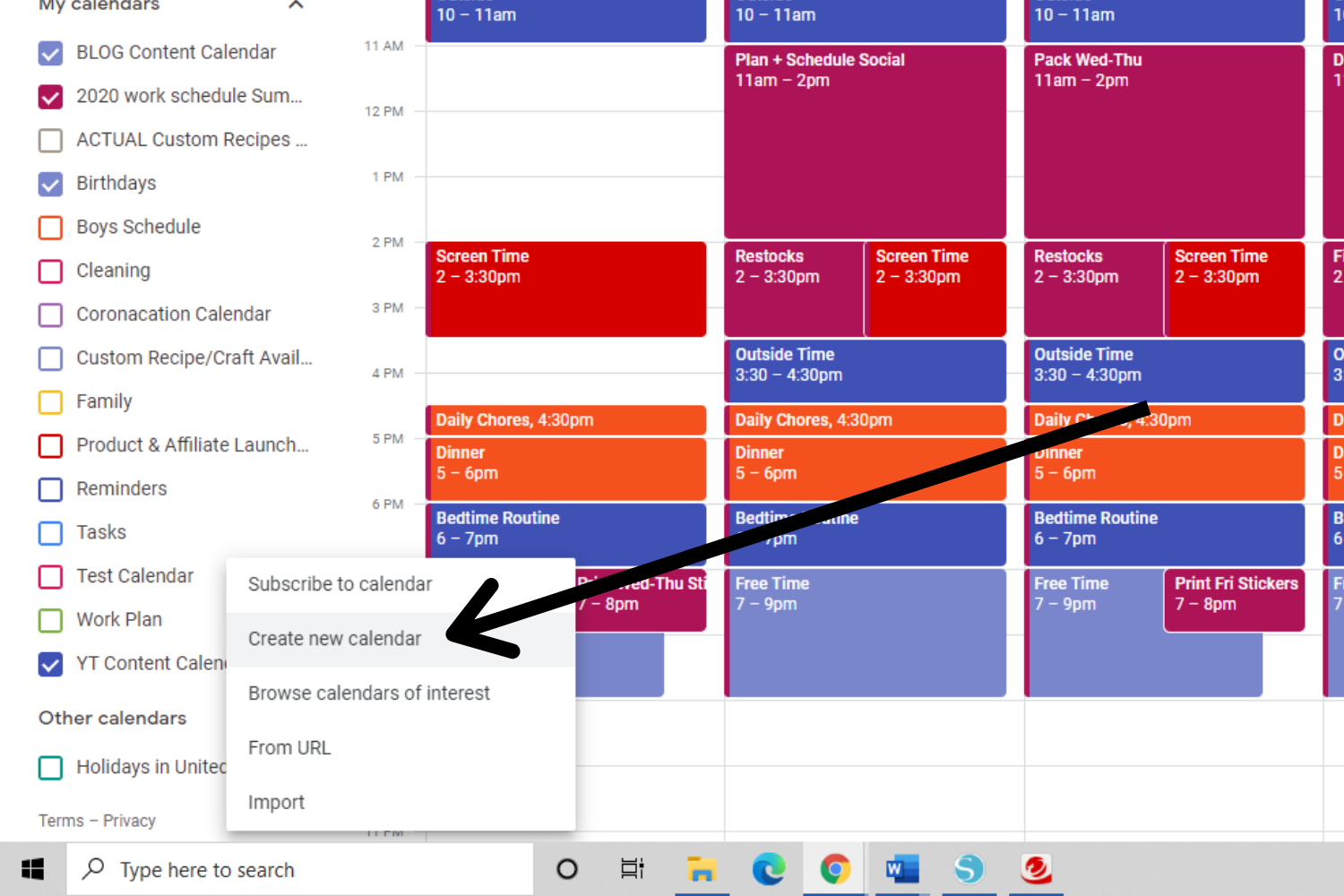 how to set up time blocking with google calendar
