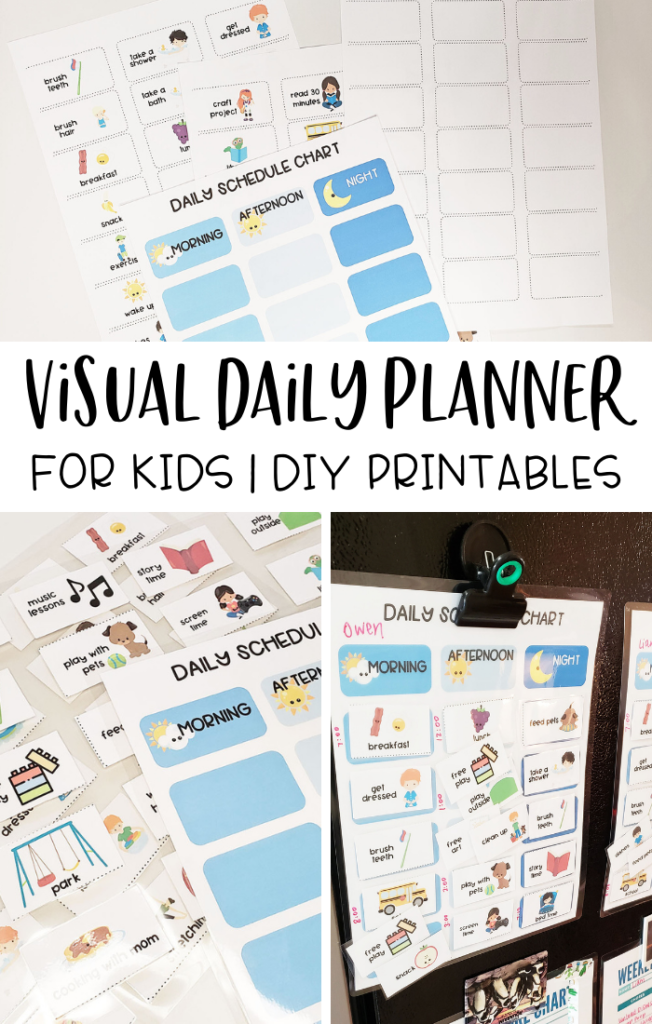 visual daily planner for kids