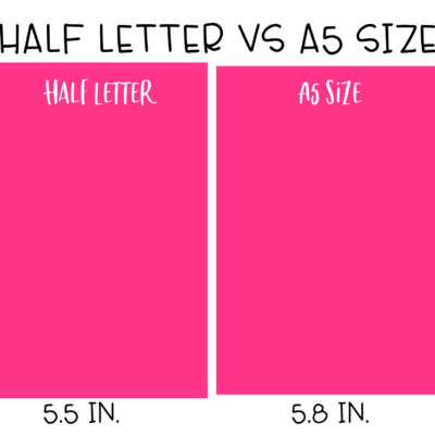 Half Letter Size VS A5 – Which is Better?