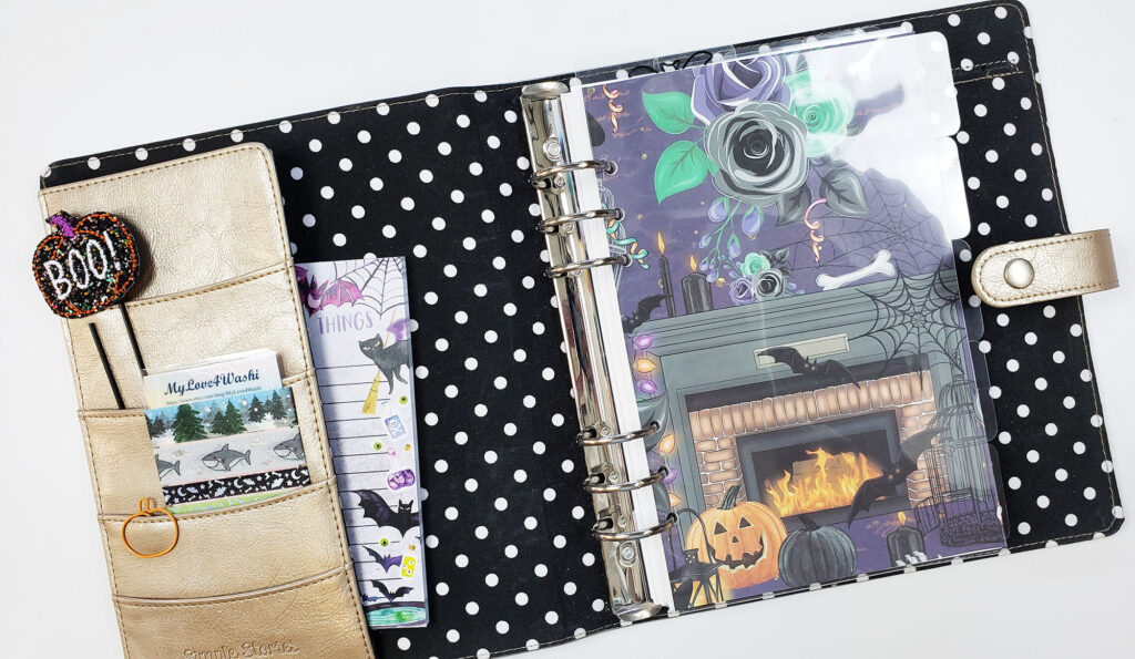 A5 planner set up for Fall
