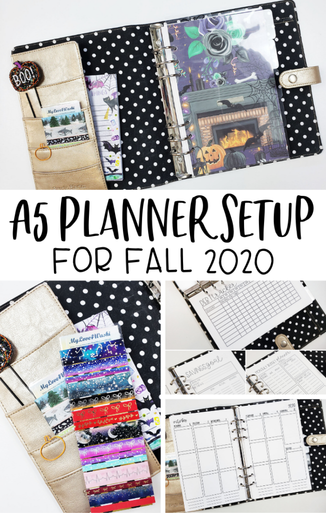A5 Planner Setup for Fall 2020