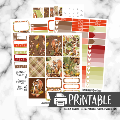 Free Printable Planner Sticker Kit | Woodland Fox Weekly