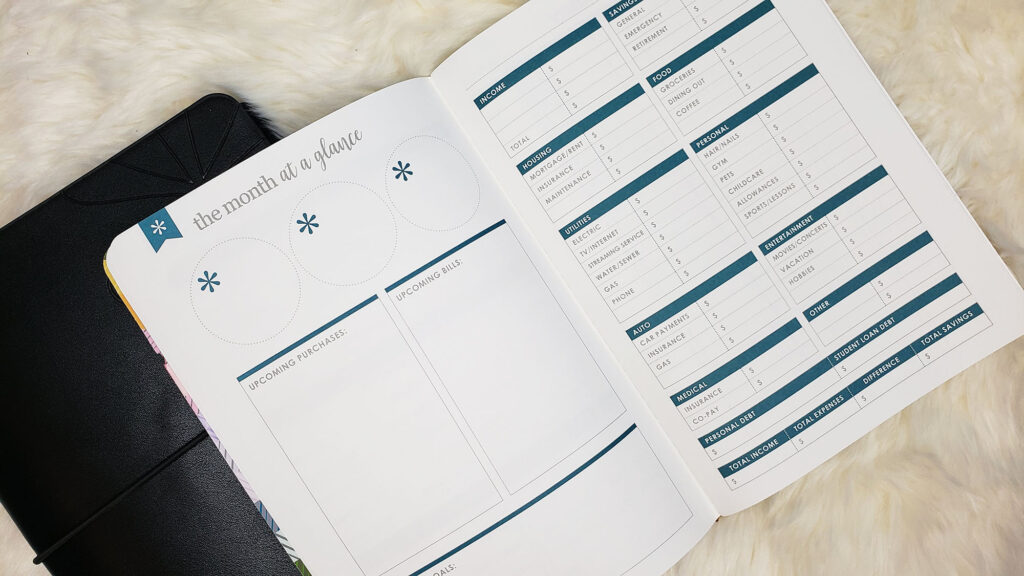 monthly budgeting in the erin condren budget petite planner