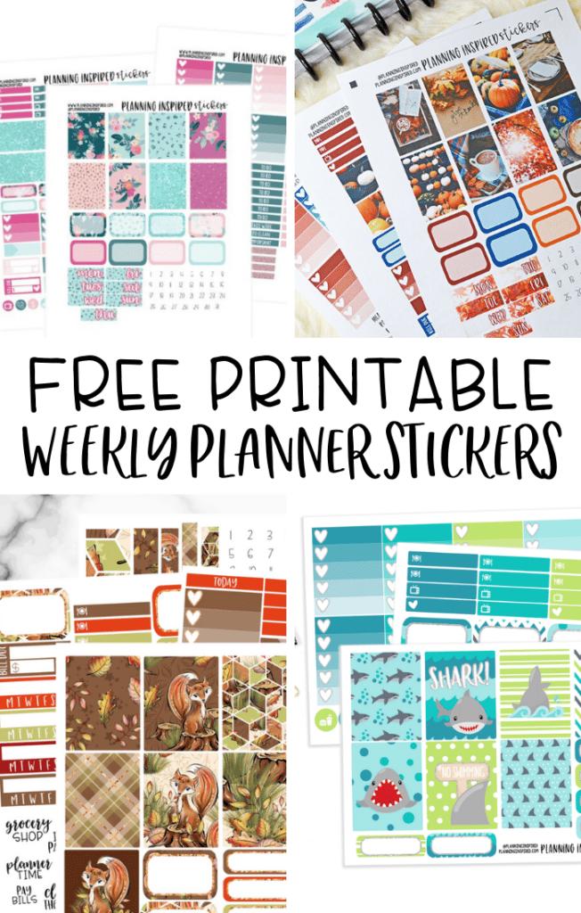 free printable weekly planner stickers